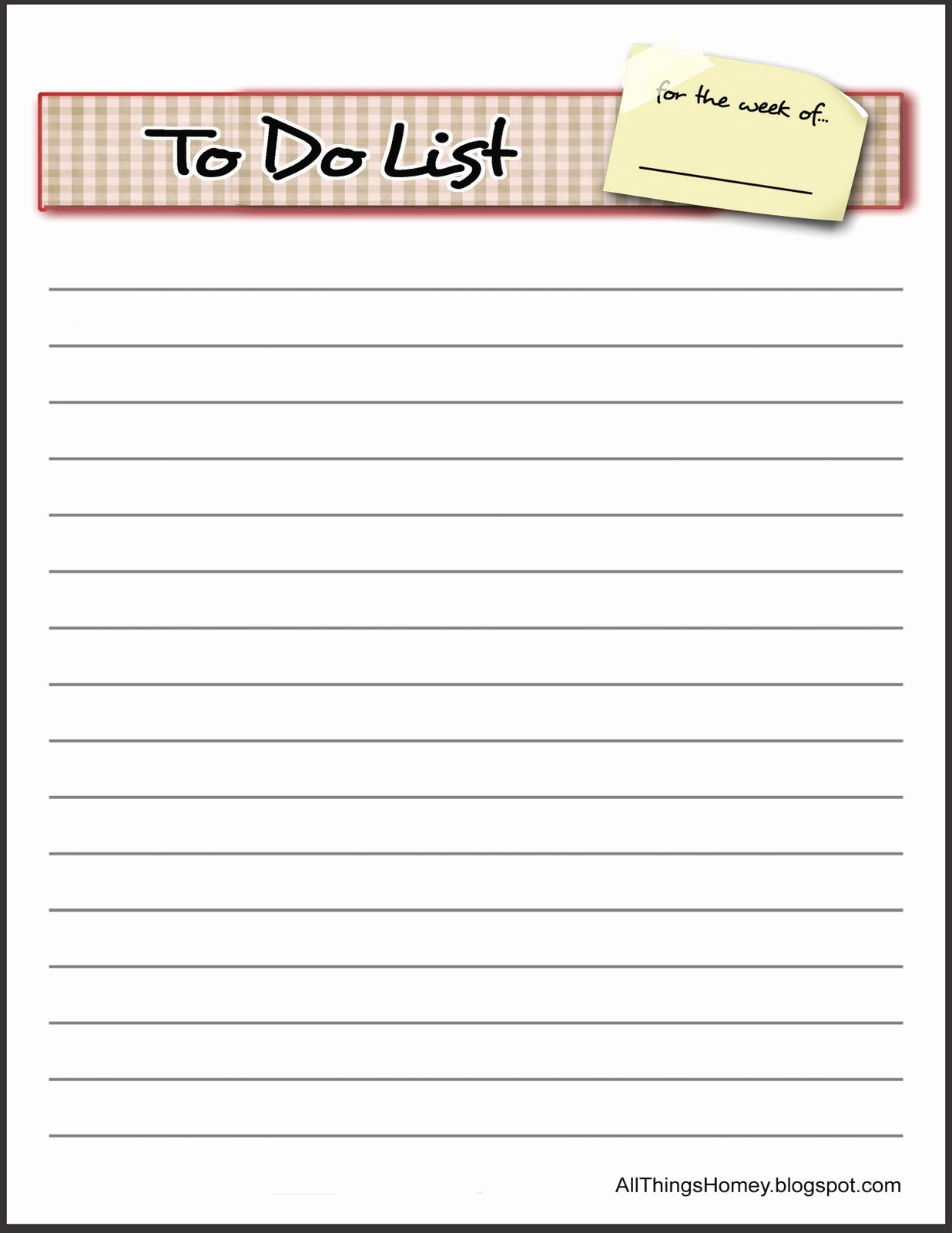 Things to Do List Template Luxury All Things Homey Free to Do List Revised