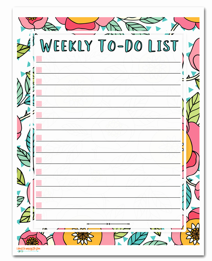 To Do List Pdf Best Of Free Printable to Do Lists — Create Home Storage