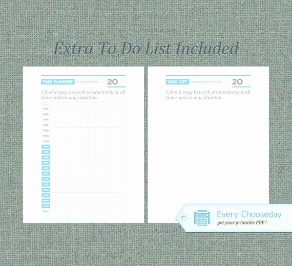 To Do List Pdf Lovely Instant Download to Do List Daily Schedule & by