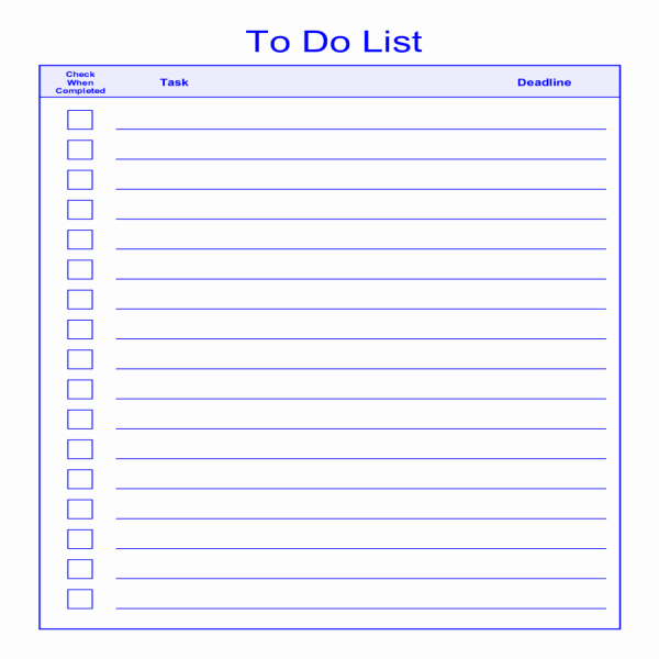 To Do List Pdf Luxury to Do List Template