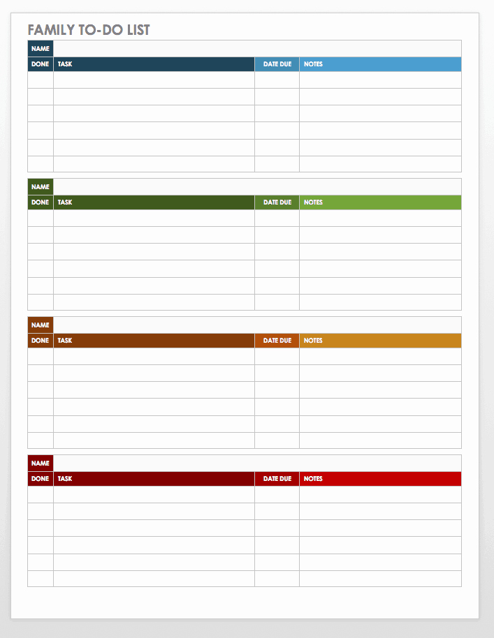 To Do List Template Word Luxury 30 Free Task and Checklist Templates