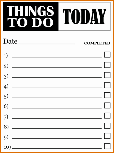 To Do List Template Word Unique 7 to Do Lists Templates