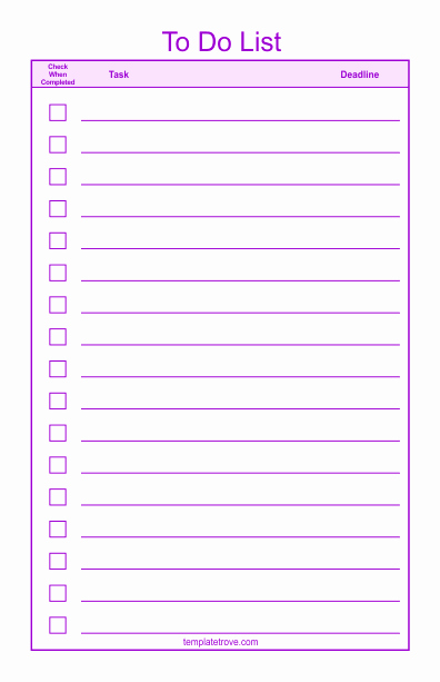 To Do List Templates Awesome to Do Checklist Template 2