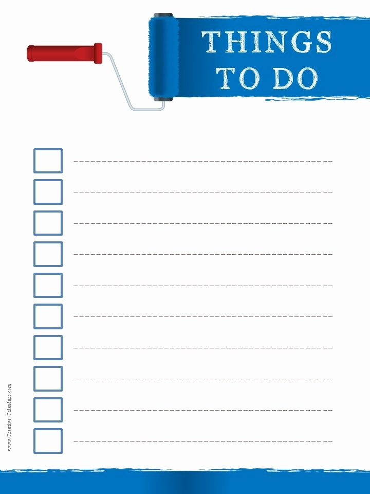 To Do List Templates Best Of to Do List Template
