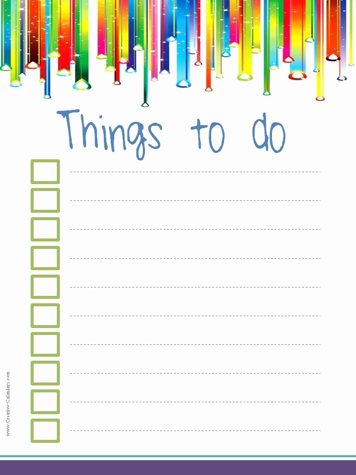 To Do List Templates Lovely to Do List Template