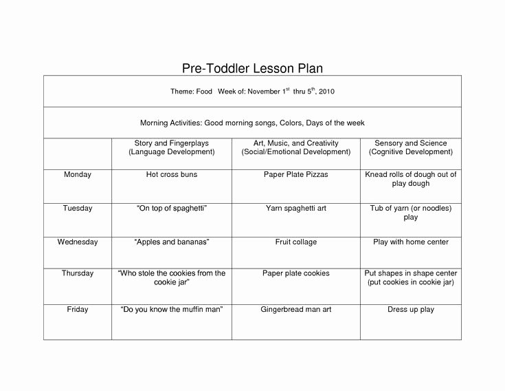 Toddler Lesson Plan Ideas Awesome 39 Best Images About Lesson Plan forms On Pinterest