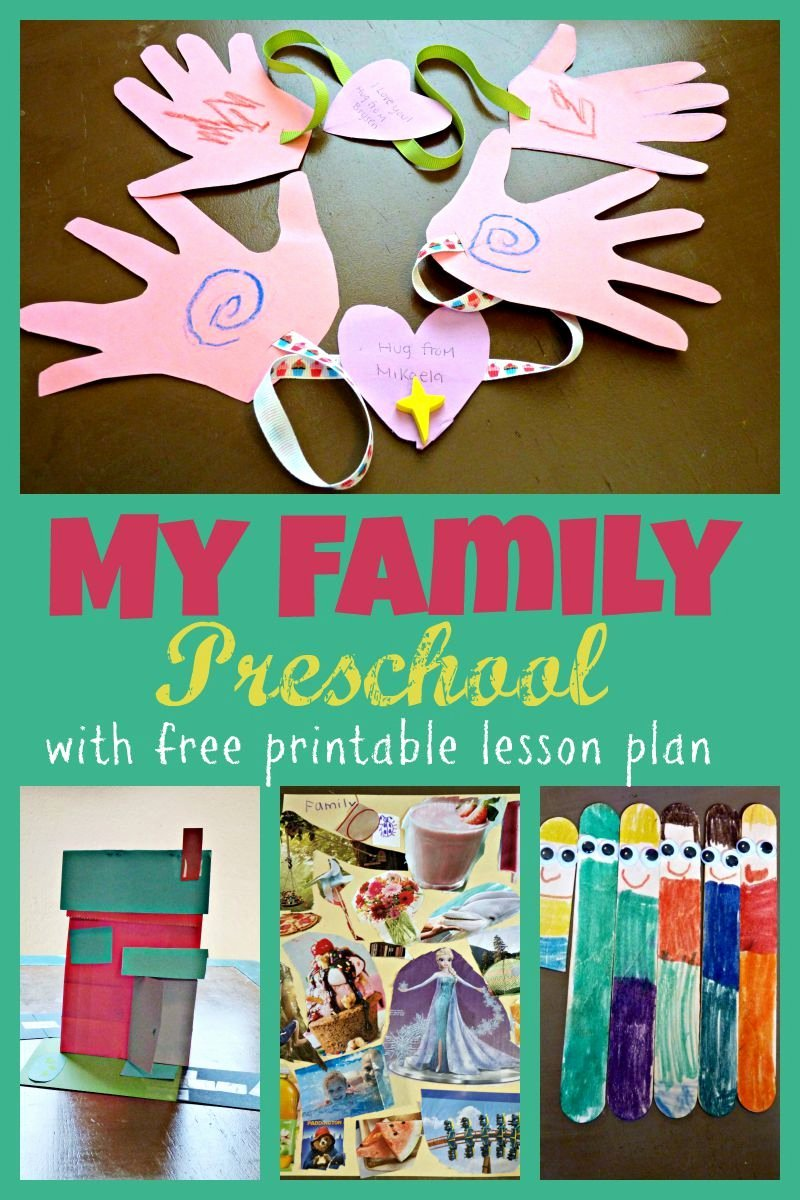 Toddler Lesson Plan Ideas Awesome My Family Preschool theme Week with Free Printable Two Day