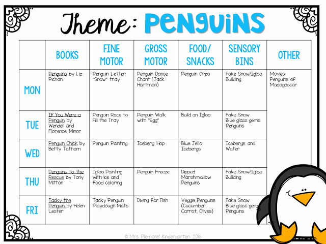 Toddler Lesson Plan Ideas Elegant tot School Penguins Best Of Kindergarten