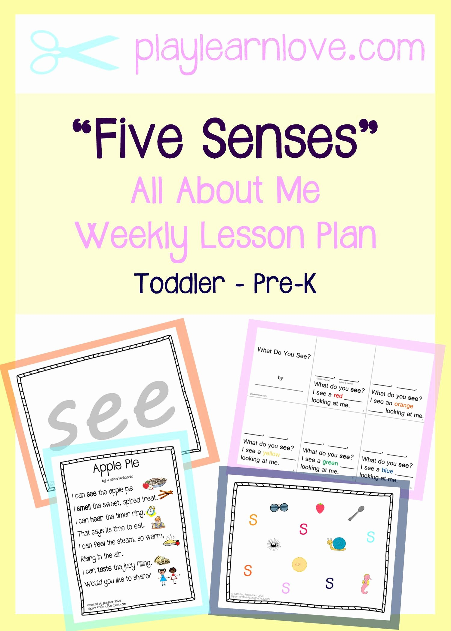 Toddler Lesson Plan Ideas Luxury Five Senses Lesson Plan Preschool and toddler All