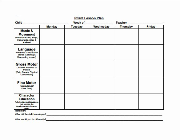 Toddler Lesson Plan Template Lovely Preschool Lesson Plan Template 11 Free Pdf Word format