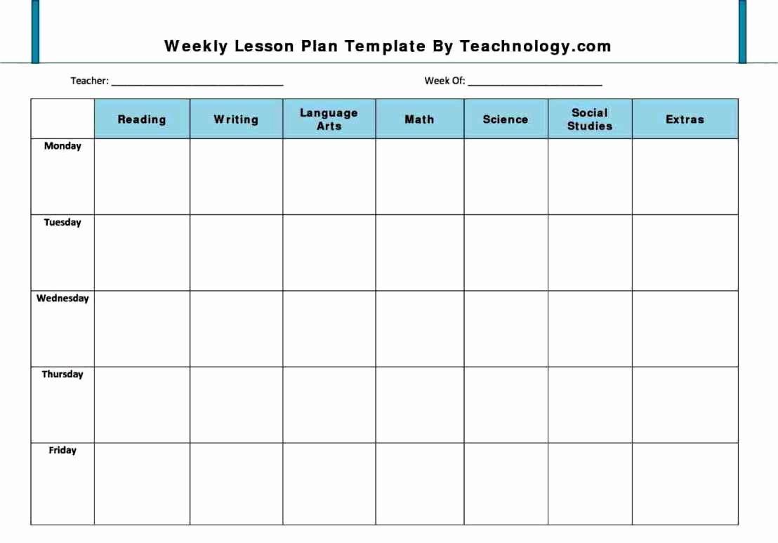 Toddler Lesson Plan Template Luxury Preschool Lesson Plan Template