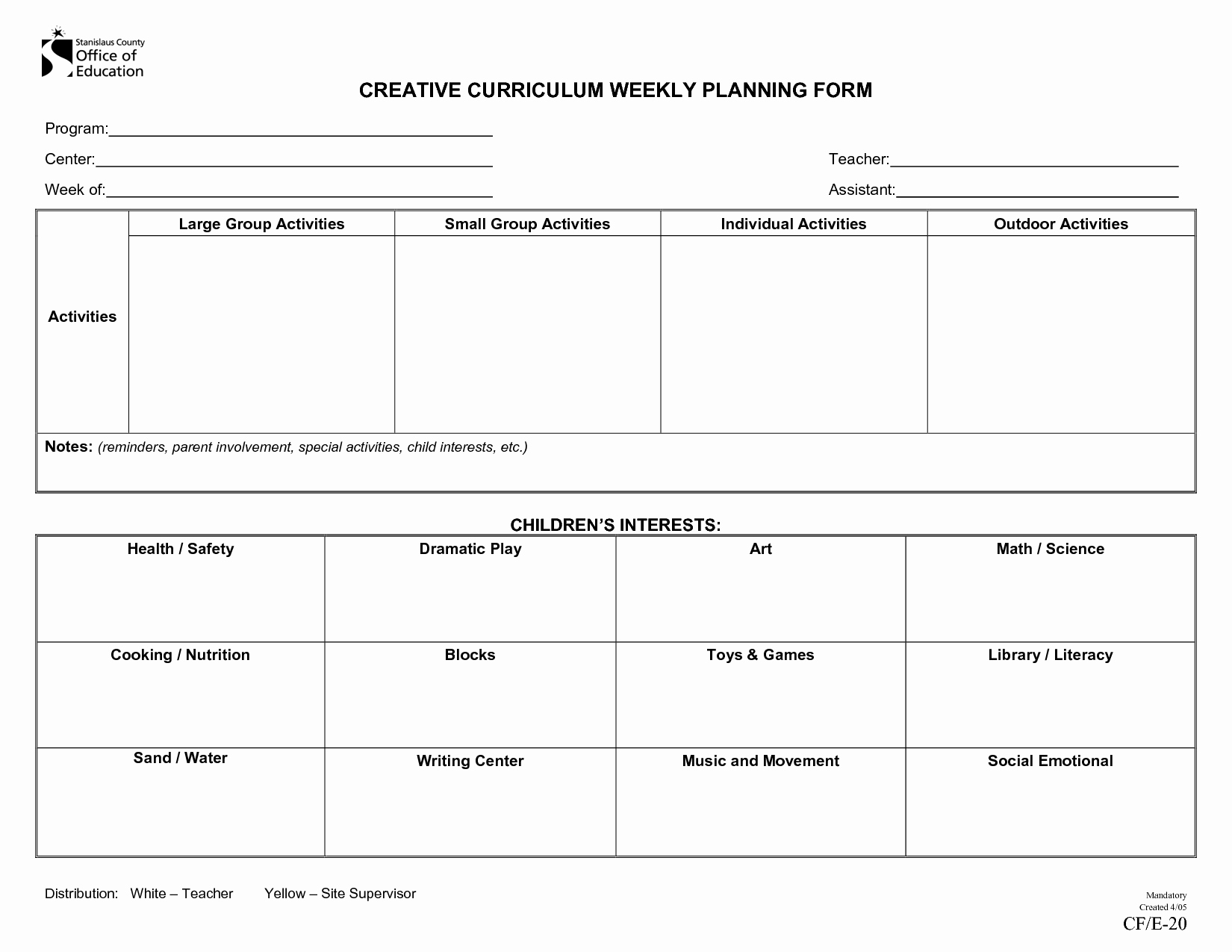 Toddler Lesson Plan Template Unique Creative Curriculum for Preschool Lesson Plan Templates