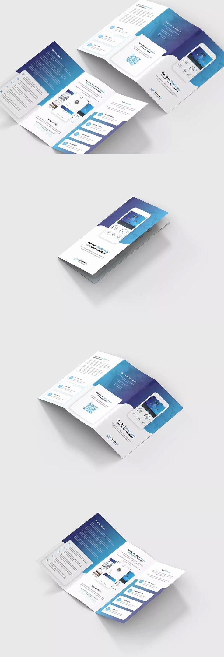 Tri Fold Brochure Size Elegant Mobile App Tri Fold Brochure Template Psd A4 Size – 29