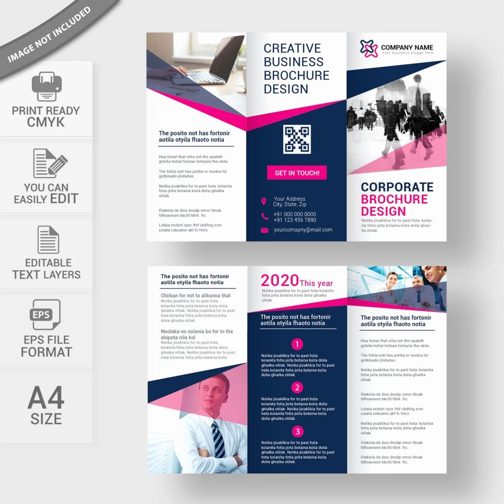 Tri Fold Brochure Size Fresh Tri Fold Brochure Free Vector Download Print Ready