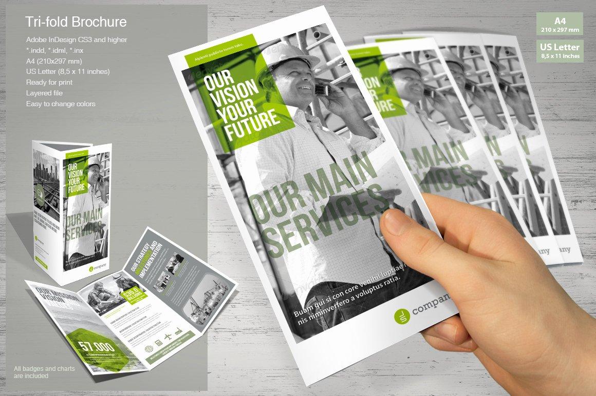 Tri Fold Brochure Size Fresh Tri Fold Brochure Mrtemplater Print Templates