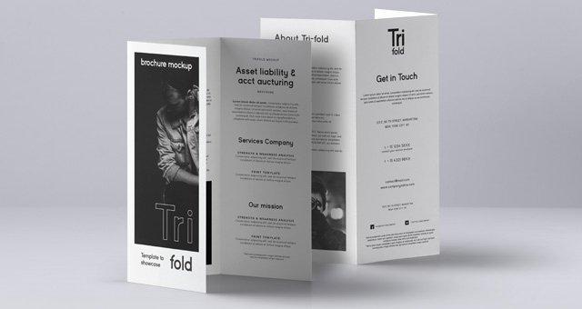 Tri Fold Brochure Size Lovely Psd Tri Fold Mockup Us A4 Vol3