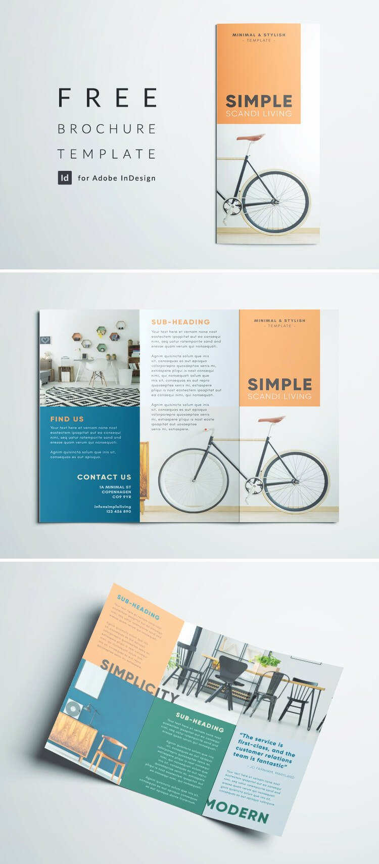 Tri Fold Brochure Size Lovely Simple Tri Fold Brochure