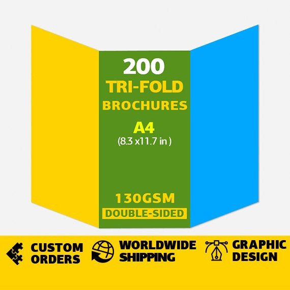 Tri Fold Brochure Size Lovely Tri Fold Brochures Size A4 or 8 3x11 7in 130gsm Double