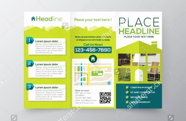 Tri Fold Brochure Size New 39 Property Brochure Templates Vector Eps Ai
