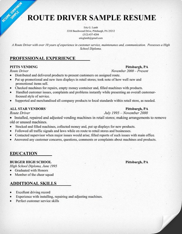 Truck Driver Resume Sample New How to Write A Resume for Delivery Driver Full Version