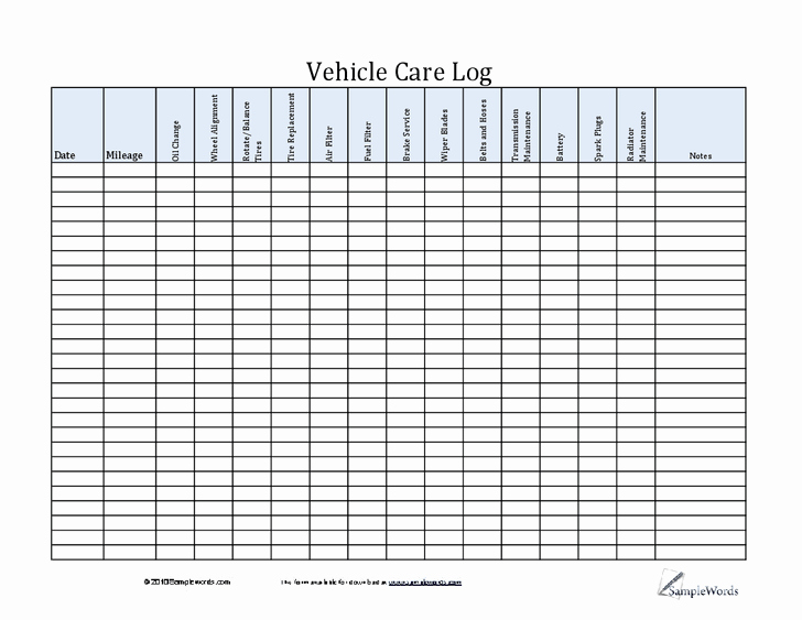 Vehicle Maintenance Log Pdf Awesome Pin by Lone Wolf software On Car Maintenance Tips