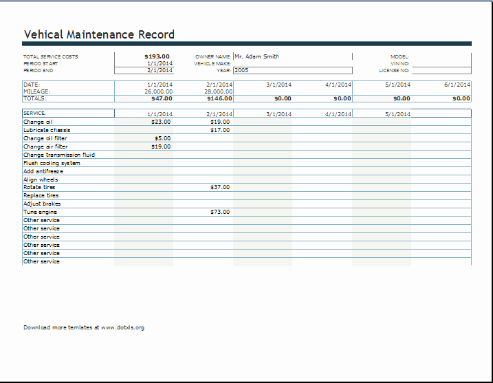Vehicle Maintenance Log Pdf Awesome Vehicle Maintenance Log Excel