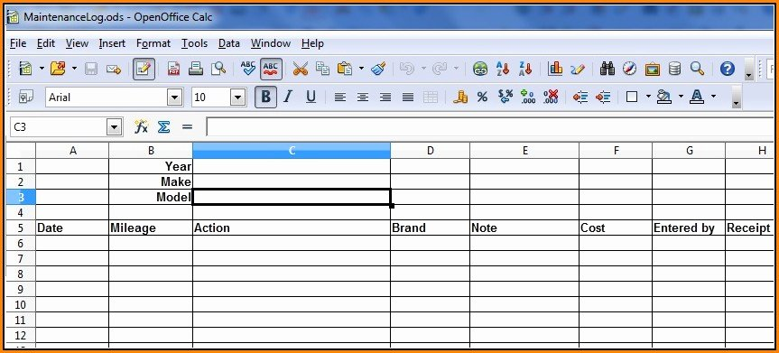 Vehicle Maintenance Log Pdf Inspirational Fleet Vehicle Maintenance Log Template Excel Template 1