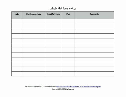 Vehicle Maintenance Log Pdf Inspirational Free Printable Vehicle Maintenance Log why You Should