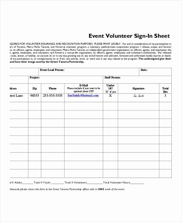 Volunteer Sign In Sheet Elegant Volunteer Sign In Sheet Templates 14 Free Pdf Documents