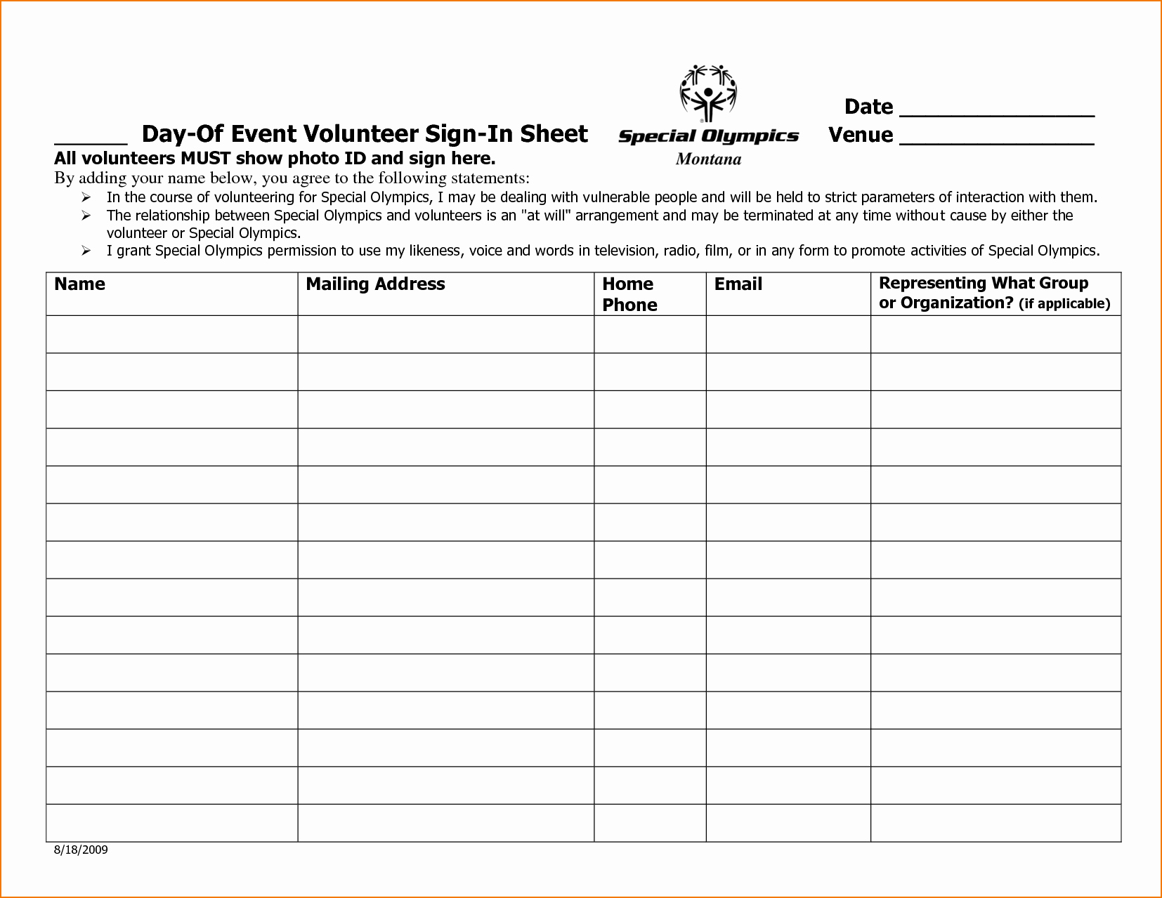 Volunteer Sign In Sheet Fresh 5 Sample Sign In Sheet