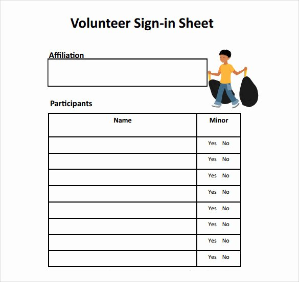 Volunteer Sign In Sheet Fresh Free 32 Sample Sign In Sheet Templates In Pdf