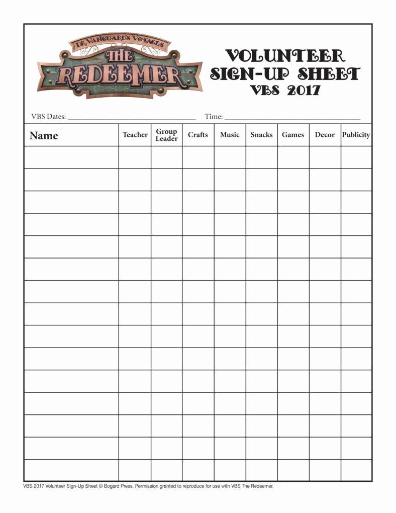 Volunteer Sign Up Sheet Best Of 10 Volunteer Sign Up Sheet Templates Pdf