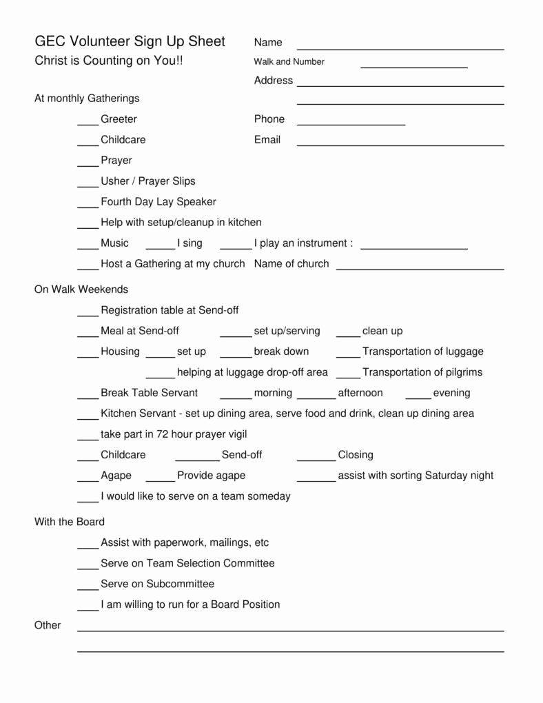 Volunteer Sign Up Sheet Luxury 10 Volunteer Sign Up Sheet Templates Pdf