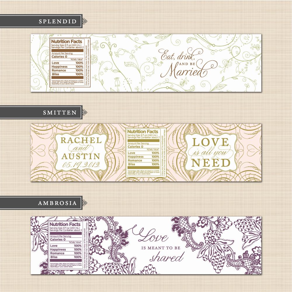 Water Bottle Labels Template Awesome Water Bottle Labels Template