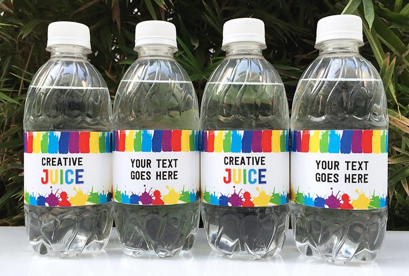 Water Bottle Labels Template Beautiful Art Birthday Party theme Printables