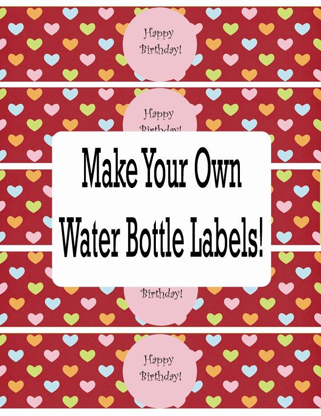Water Bottle Labels Template Luxury Water Bottle Labels Template Free