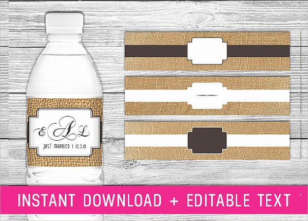 Water Bottle Labels Template New Free 22 Sample Water Bottle Label Templates In Psd