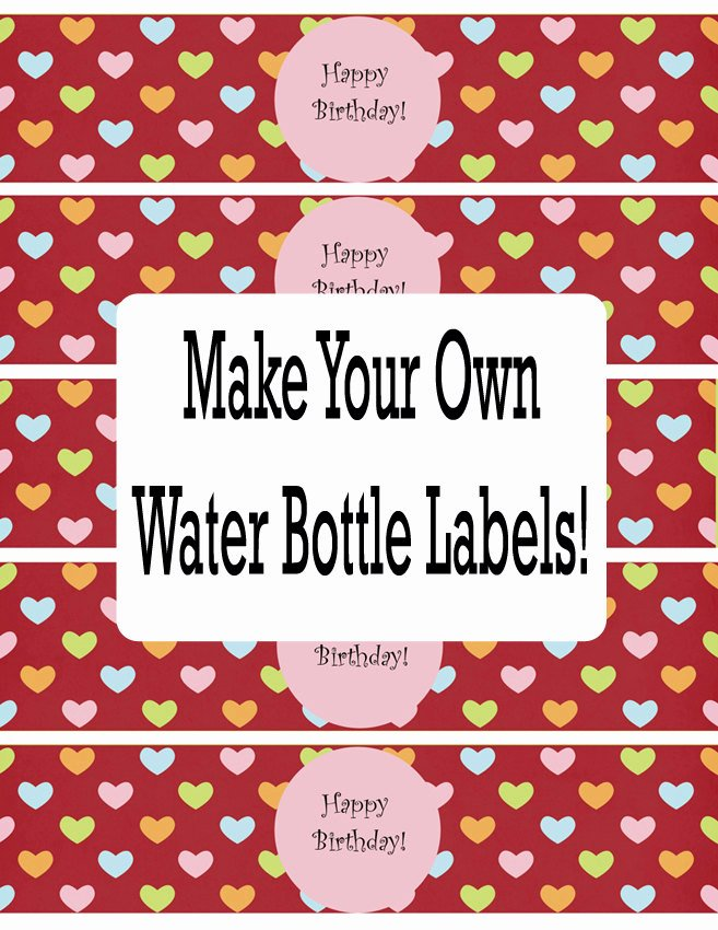 Water Bottle Labels Template New Water Bottle Labels Template