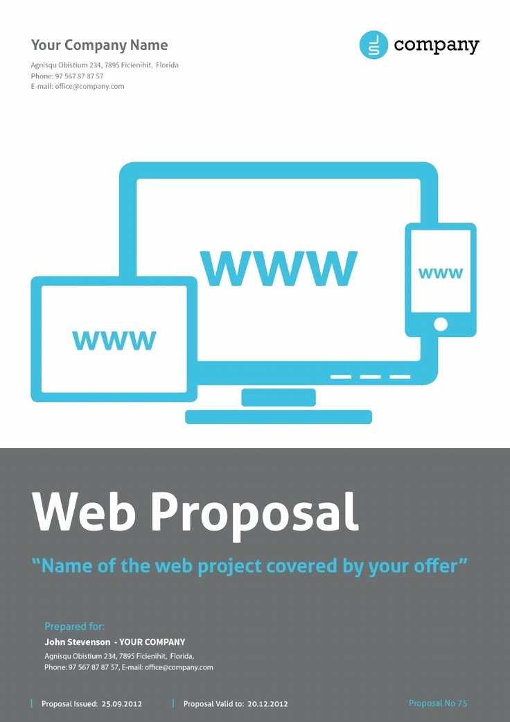 Web Design Proposal Template Beautiful Web Proposal by Paulnomade Documents