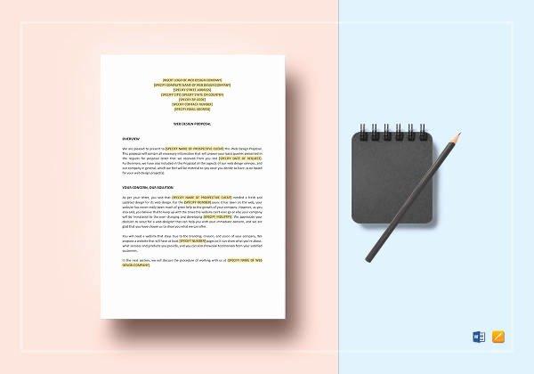 Web Design Proposal Template Elegant Sample Web Design Proposal Template 13 Free Documents