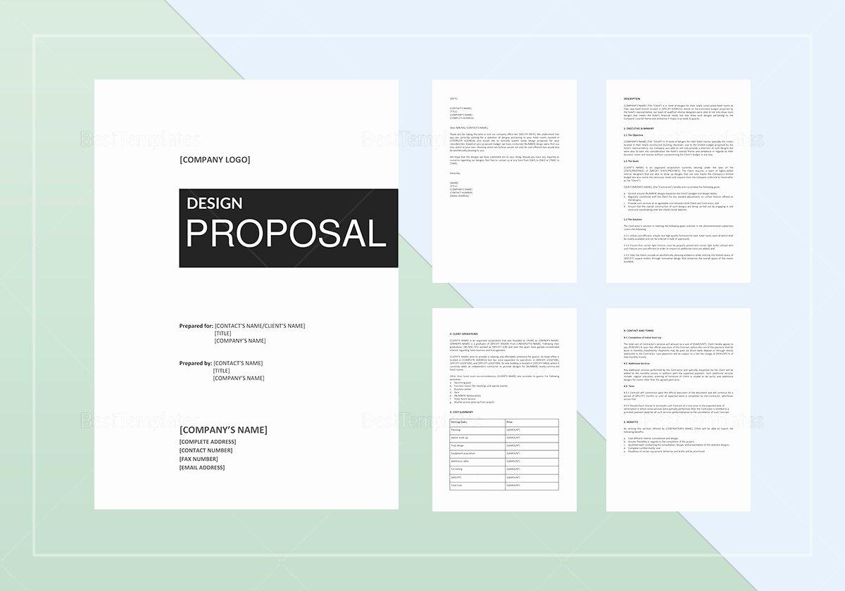 Web Design Proposal Template Inspirational Design Proposal Template In Word Google Docs Apple Pages