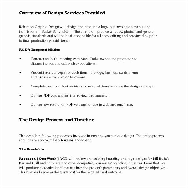 Web Design Proposal Template Lovely Sample Graphic Design Proposal Template 10 Free
