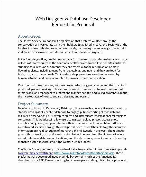 Web Design Proposal Template Lovely Sample Web Design Proposal Template 13 Free Documents