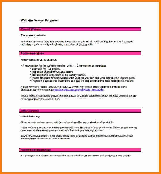 Web Design Proposal Template Luxury 9 Website Proposal Template