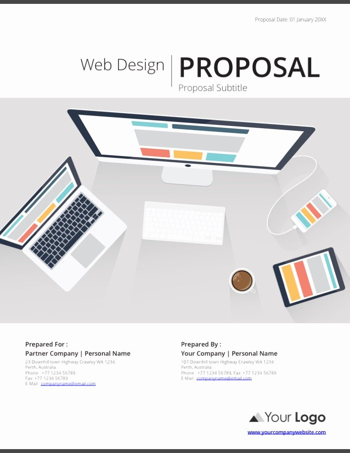 Web Design Proposal Template Luxury Web Design Proposal Template