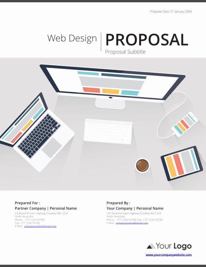 Web Design Proposal Template Luxury Web Design Proposal Template