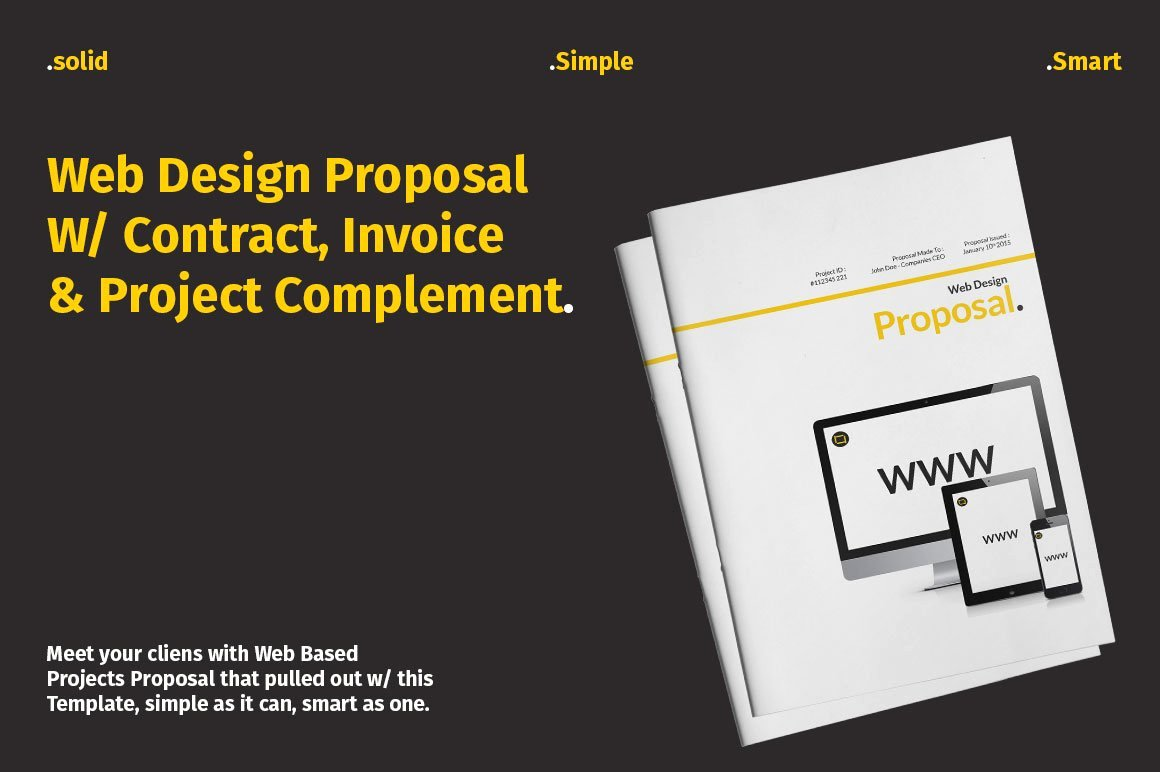 Web Design Proposal Template Luxury Website Proposal with Yellow Accent Stationery Templates