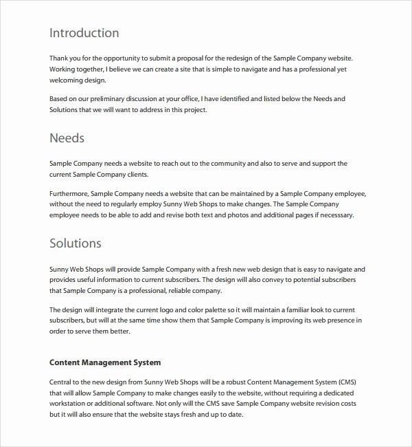 Web Design Proposal Template New 10 Website Design Proposal Templates Word Pdf Pages