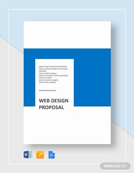 Web Design Proposal Template New Sample Web Design Proposal Template 13 Free Documents