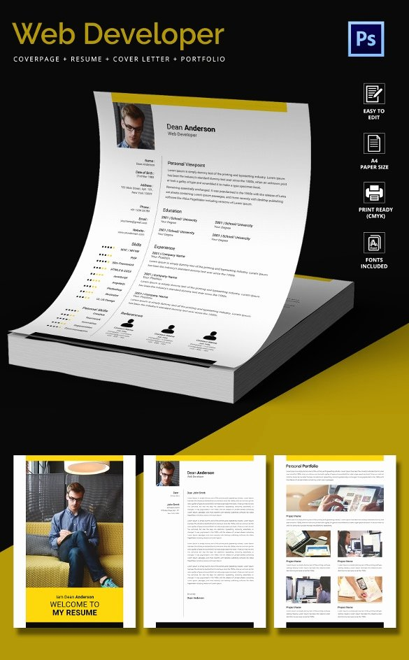 Web Developer Resume Template Beautiful 51 Creative Resume Templates – Free Psd Eps format